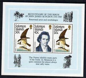 Birds - Solomon Is. 1985 Audubon min. sheet fine fresh MNH