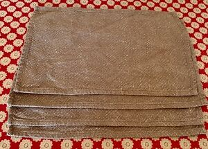 Set Of 4 The White Company Linen Cotton Mix Table Fabric Placemats