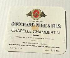 Wine Label 1966 Chapelle-Chambertin Appellation Chapelle-Chambertin Controlee