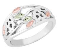 Landstrom's® Black Hills Gold on Sterling Silver Ladies Ring Size 4 - 10