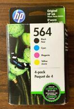 HP 564 4-pack Black/Cyan/Magenta/Yellow Original Ink Cartridges Exp. 12/20 (NEW)