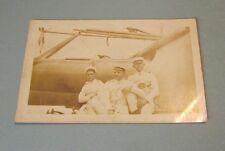 WWI Era Sailors on the USS Utah US Navy Battleship BB-31 Real Photo Postcard