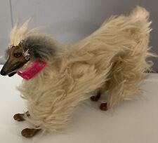 Vintage 1979 Beauty Barbie Large Dog Mattel Afghan Hound Poseable w/ Pink Collar