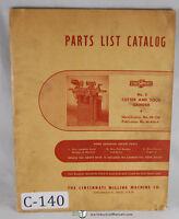 Cincinnati No. 2, EM Cutter and Tool Grinder, Parts Manual 1939
