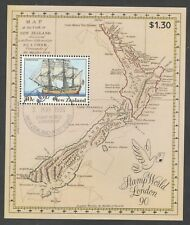 New Zealand 1990 Scarce Stamp World London MS with London Cancel Superb USED