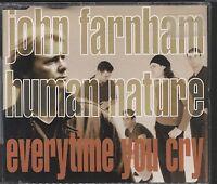 John Farnham / Human Nature - Every time you cry CD (single) vgc