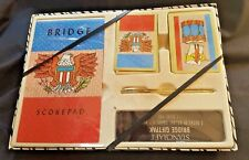 VINTAGE STANCRAFT BRIDGE GIFT SET AMERICANA FIFE AND DRUM NEW IN BOX