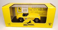 ART MODEL #ART012 Ferrari 166 MM  12 ORE DI PARIGI yellow 1/43