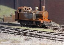 OO gauge scrapyard Jinty Tank loco, heavily rusted and weathered