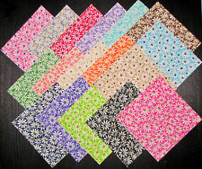 """Daisy Fields Cotton Fabric 5"""" Charm Pack - 34 Squares 5""""X5"""" Set Sew Quilt Craft"""