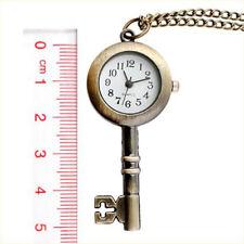 Key Style Locket Watch Pocket Watch Bronze Necklace Cute Star Antiqued Antique