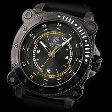 Montre Homme Carré Militaire Royal Sport Date Bracelet Cuir Cadeau Luxe