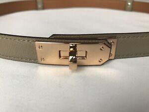Ash Skinny Designer Inspired Epsom Leather Belt With Gold Hardware