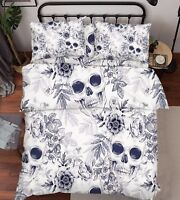 3D Skull Flowers 6 Bed Pillowcases Quilt Duvet Cover Set Single Queen King AU