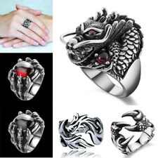 Punk Mens Rings Trendy Christmas Dragon Claw Rings Jewelry Halloween Accessories