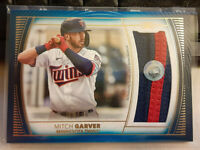 2021 Topps Definitive Baseball MITCH GARVER Blue Jumbo Jersey Patch Card # 10/30