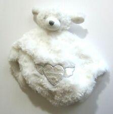 New listing Blankets Beyond Teddy Bear White Plush Baby Lovey Security Blanket God Bless