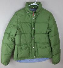 J Crew Womens Down Puffer Jacket Green size M