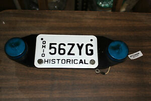 Historical Ohio license plate + blue lights 1985 FXRP Harley FXR Police EPS23809