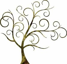 DXF CNC dxf for Plasma Router Clip Art Vector Swirl tree 2 Wall Art