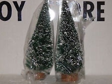 DEPT56 VILLAGE FROSTED TOPIARY TREES ST/2 #5200-0 NEW. MINT IN ORIGINAL BOX