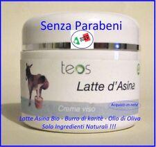 CREMA VISO AL LATTE D'ASINA BIO NATURALE...IDRATA E PROTEGGE MADE IN ITALY