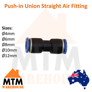 Push in Air Fitting Equal Union Straight Connector Pneumatic Systems Compressor