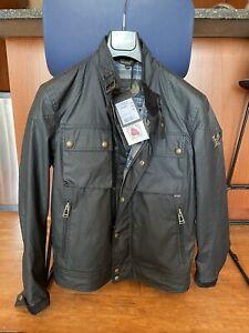 NWT Belstaff Racemaster Slim-Fit Waxed-Cotton Jacket   Black, IT40, US40/M