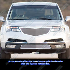 Fits 2011-2013 Acura MDX Stainless Steel Mesh Grille Grill Insert Combo