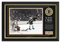 Bobby Orr The Goal Boston Bruins Stanley Cup 1970 -Archival Etched Glass Ltd/144
