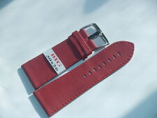 30mm WIDE RED LEATHER WATCH STRAP