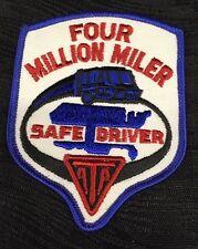Vintage ATA 4 Million Mile Truck Safe Driver Award Patch Super Rare Trucking