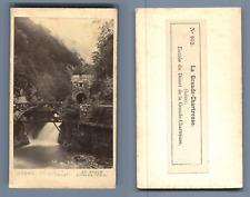 AD. Braun à Dornach, La Grande Chartreuse. Entrée du Désert  CDV vintage albumen