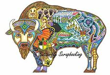 BUFFALO Animal Spirit Cling Unmounted Rubber Stamp EARTH ART Sue Coccia New