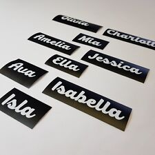 2x Personalised name vinyl decal sticker for xmas, glass, crafts, bauble etc.