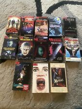 Lot of 13 Horror movie VHS hellraiser leprechaun devils rejects maniac