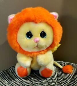 Vintage 1985 Mattel ANGEL LION pink yellow orange bunny Plush Stuffed animal toy