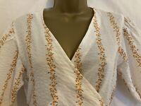 Gorgeous Ditsy Wrap Dress New NEXT Summer Maxi Long Size 12 £38