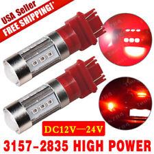 2X Super Red 3157/3156 Projector Turn Signal Reverse 2538 LED Lights Bulb 12V