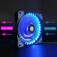 Computer Case PC RGB Cooling Fan LED 120mm Cooler with Remote Z5E3 Con Fan O0O7