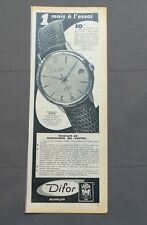 PUB PUBLICITE ANCIENNE ADVERT CLIPPING 220517 / MONTRE DIFOR DATE AUTOMATIQUE
