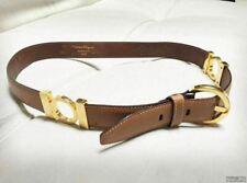SALVATORE FERRAGAMO 2101 Leather Waist Belt - Camel - 9/10