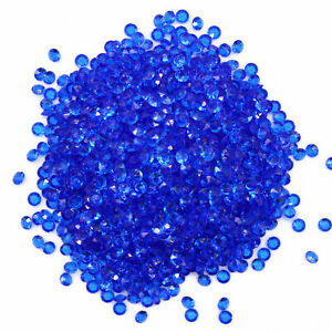 5mm ROYAL BLUE Scatter Crystals Table Confetti Wedding Decorations Diamond Gems