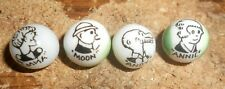 4-lot emma,annie,moon + andy characters on marbles unknown age nice displayed