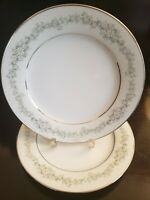 """2 NORITAKE DONEGAL 2179 SALAD PLATES 8 1/4"""" ROUND EXCELLENT CONDITION"""