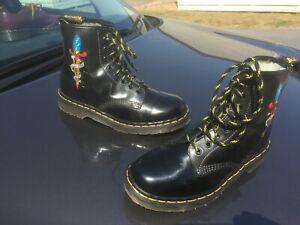 Vintage Dr Martens 1460 black leather boots UK 7 EU 41 Made in England