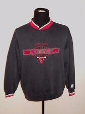 VTG 90s Chicago Bulls STARTER Vneck Crewneck Sewn Logo Sweatshirt Men's size XL