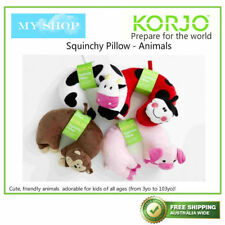 KORJO KIDS TRAVEL SQUINCHY PILLOW WITH 5 COOL ANIMAL DESIGNS 1 / 2 pieces