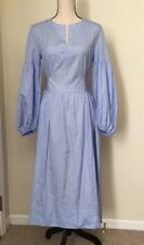 NEW Thomas Mason® for J.Crew Pleated  Dress Size6 In  Blue SAMPLE