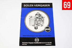 Solex 30-34 PICT-3 /-4 VW Käfer Vergaser Unterlagen, Heft, Handbuch Beschreibung